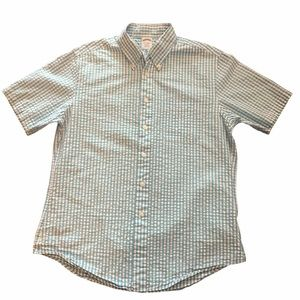 Brooks Brother's 100% cotton short sleeve pastel L